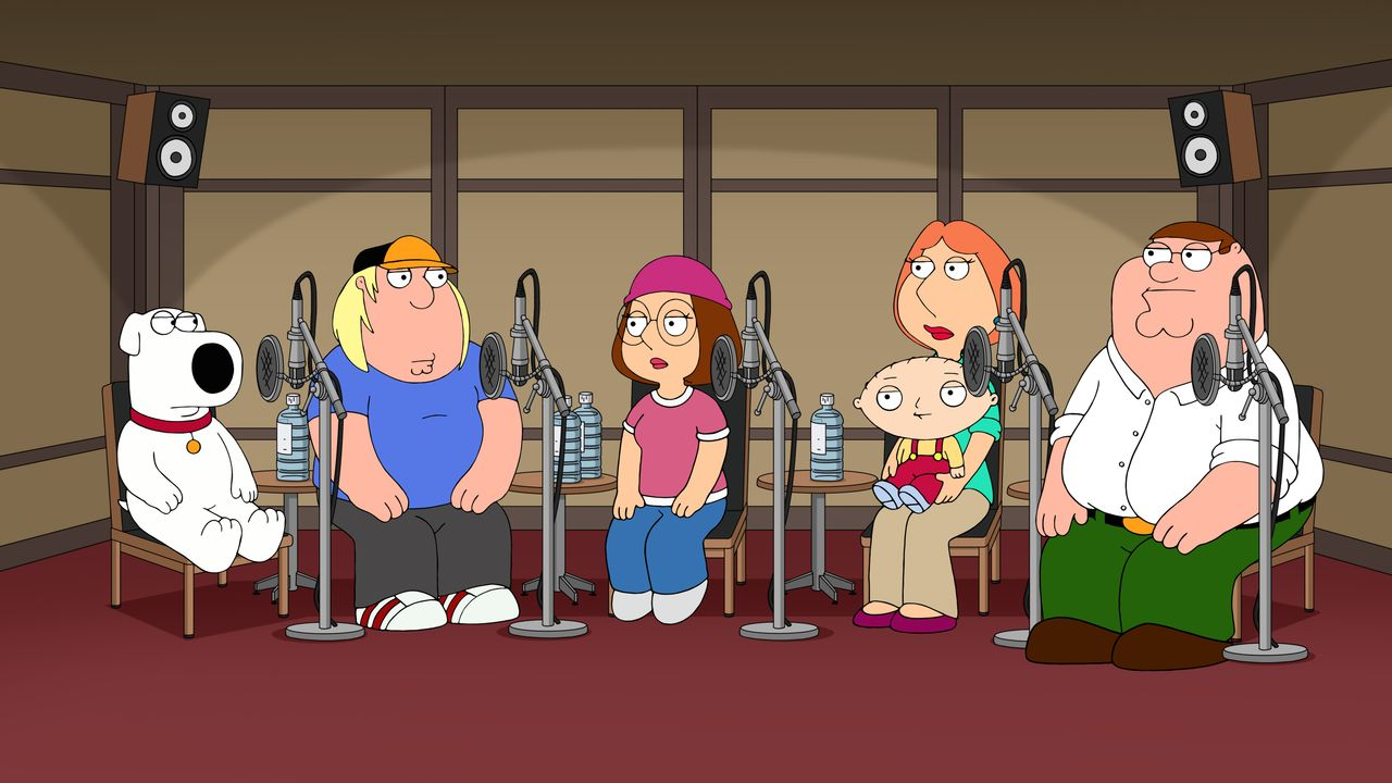 (v.l.n.r.) Brian Griffin, Chris Griffin, Meg Griffin, Stewie Griffin, Lois Griffin, Peter Griffin - Bildquelle: 2018-2019 Fox and its related entities.  All rights reserved.