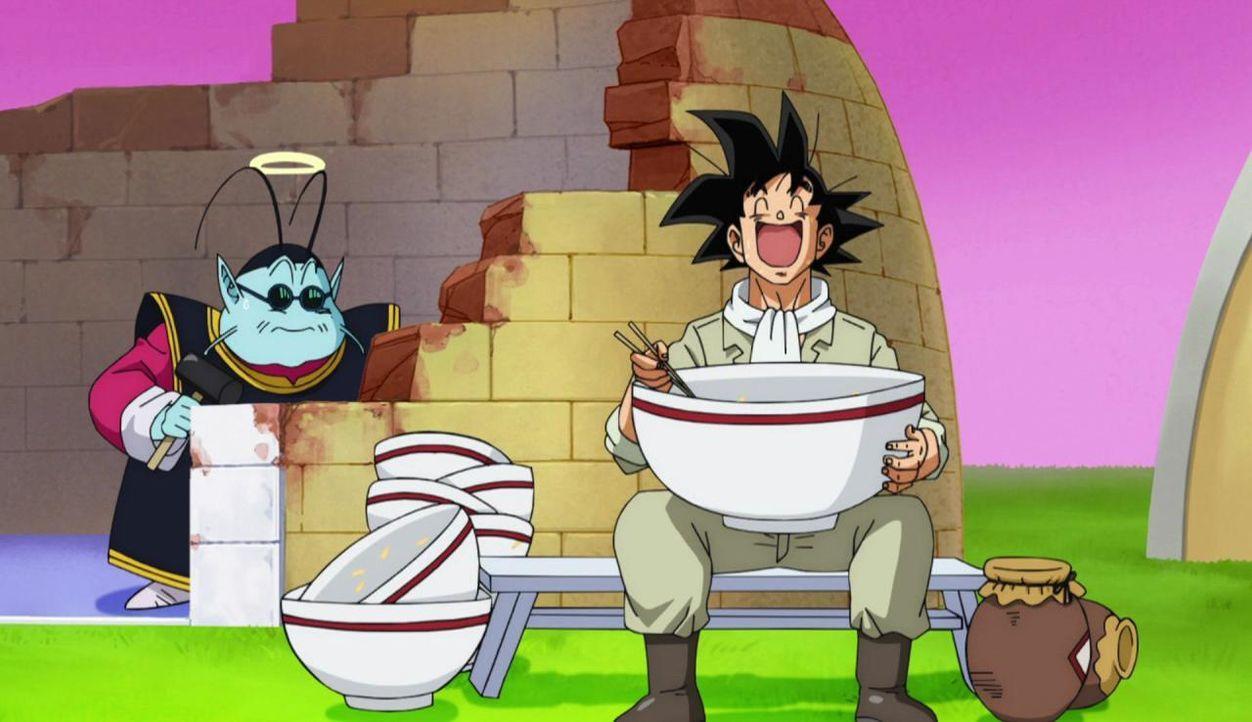 Son Goku scheint endlich satt zu sein! Doch der nächste Hunger kommt bestimmt ... - Bildquelle: BIRD STUDIO/SHUEISHA, TOEI ANIMATION