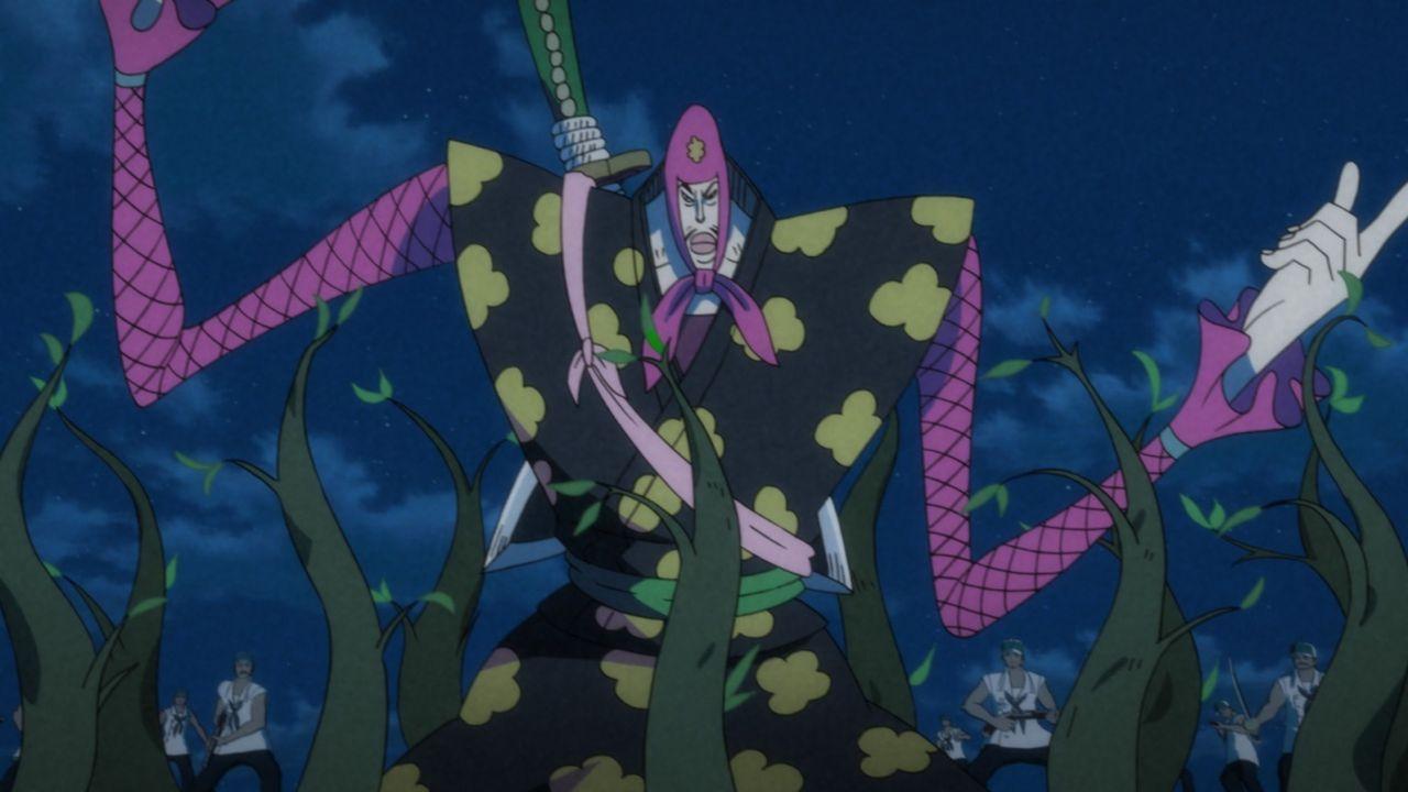 Ninja Bins ist Mitglied von Zs' Neo Marine. Er ist mit der Kraft der Pflanzenfrucht ausgestattet ... - Bildquelle: Eiichiro Oda/Shueisha, Toei Animation