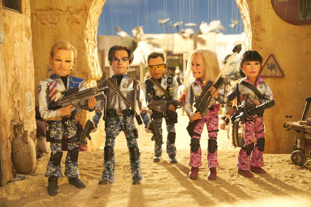 Das World Team America (v.l.n.r.: Joe,Gary, Chris,Lisa und Sarah), eine US-amerikanische Elite-Antiterroreinheit, ist mal wieder gezwungen, die Welt... - Bildquelle: Paramount Pictures