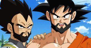 Vegeta und Son Goku mit Bart