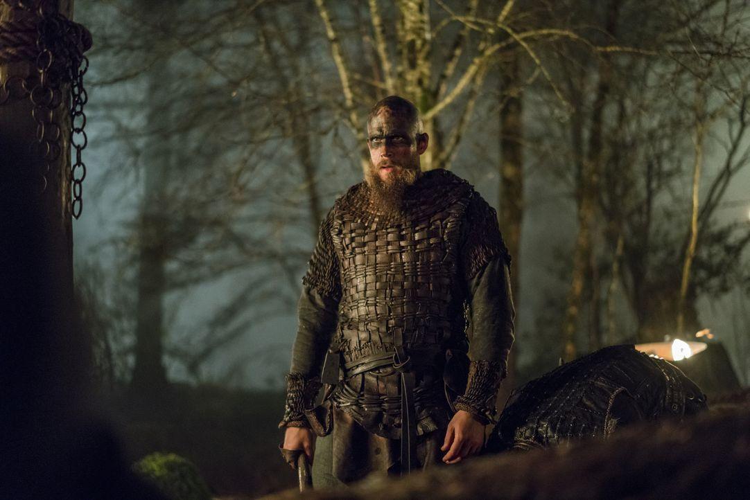 Zieht in die Schlacht, um Ragnar zu rächen: Floki (Gustaf Skarsgård) ... - Bildquelle: 2016 TM PRODUCTIONS LIMITED / T5 VIKINGS III PRODUCTIONS INC. ALL RIGHTS RESERVED.