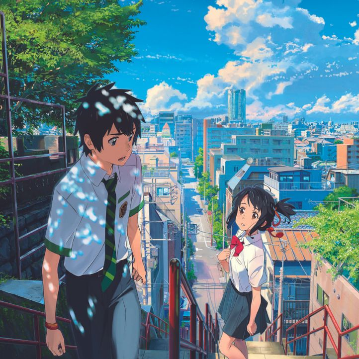 (v.l.n.r.) Taki Tachibana; Mitsuha Miyamizu - Bildquelle: 2016 TOHO CO., LTD. / CoMix Wave Films Inc. / KADOKAWA CORPORATION / East Japan Marketing & Communications,Inc. / AMUSE INC. / voque ting co.,ltd. /