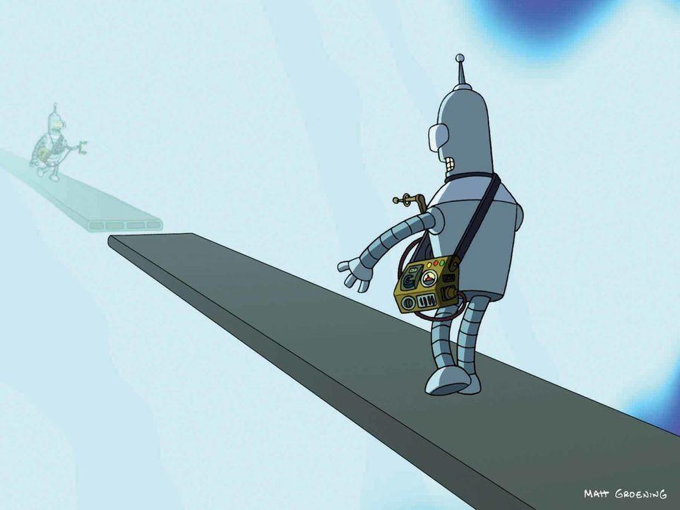 Was steckt hinter der Anomalie? Bender versucht, es herauszufinden ... - Bildquelle: 2008 Twentieth Century Fox Film Corporation. All rights reserved.