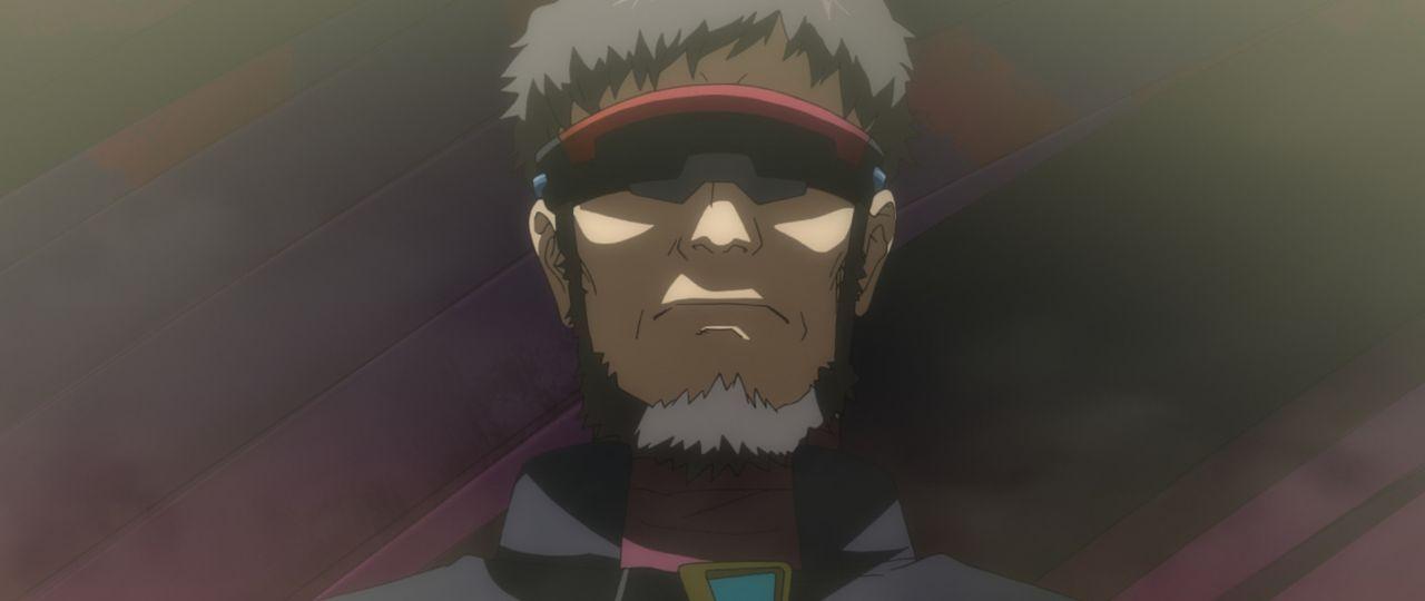 Einzig Shinjis Vater Gendo und dessen erster Kommandant sind bei NERV übrig ... - Bildquelle: khara, GAINAX. All rights reserved