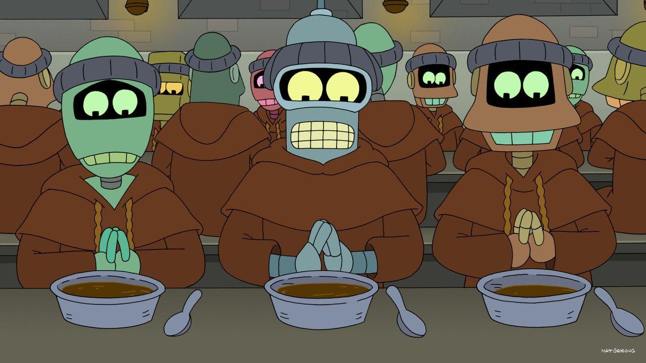 Fühlt sich nicht wohl in seiner neuen Umgebung: Bender (M.) ... - Bildquelle: Twentieth Century Fox Film Corporation. All rights reserved.