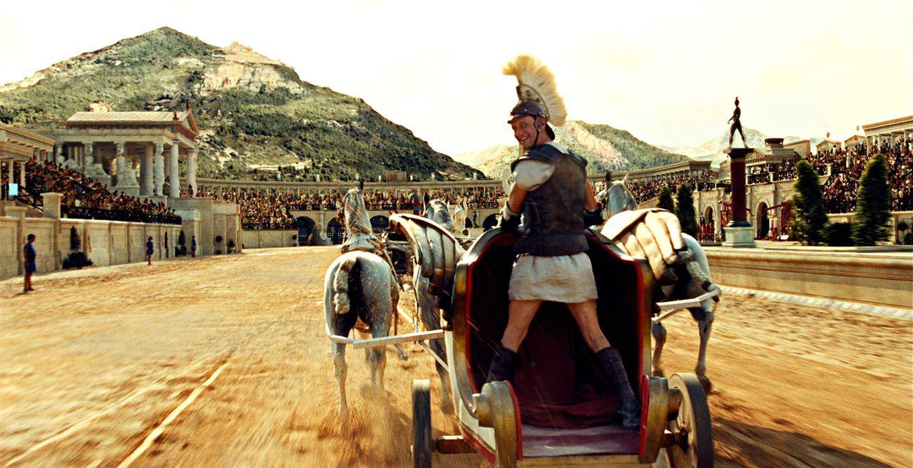Asterix und Obelix' Weg führt diesmal nach Griechenland zu den Olympischen Spielen. Sie müssen ihrem Freund Romantix helfen, dort zu gewinnen und au... - Bildquelle: Constantin Film