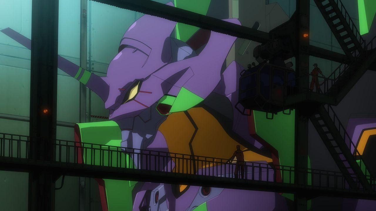 Um die Engel zu stoppen, hat Shinjis Vater mit der Organisation NERV gigantische, biomechanische Evangelion-Mechas geschaffen, die nur von wenigen M... - Bildquelle: khara, GAINAX. All rights reserved