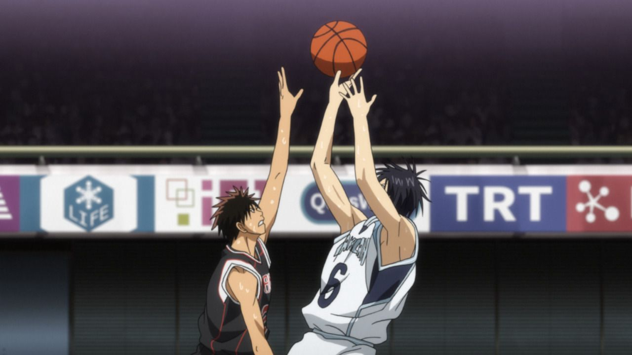 Die Mannschaft der Seirin Oberschule findet langsam ins Spiel zurück. Mit ve... - Bildquelle: Tadatoshi Fujimaki/SHUEISHA,Team Kuroko