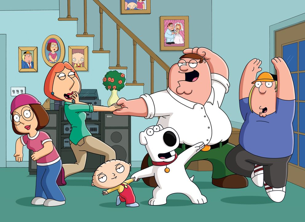 (18. Staffel) - (v.l.n.r.) Meg Griffin; Lois Griffin; Stewie Griffin; Brian Griffin; Peter Griffin; Chris Griffin - Bildquelle: 2018-2019 Fox and its related entities. All rights reserved.