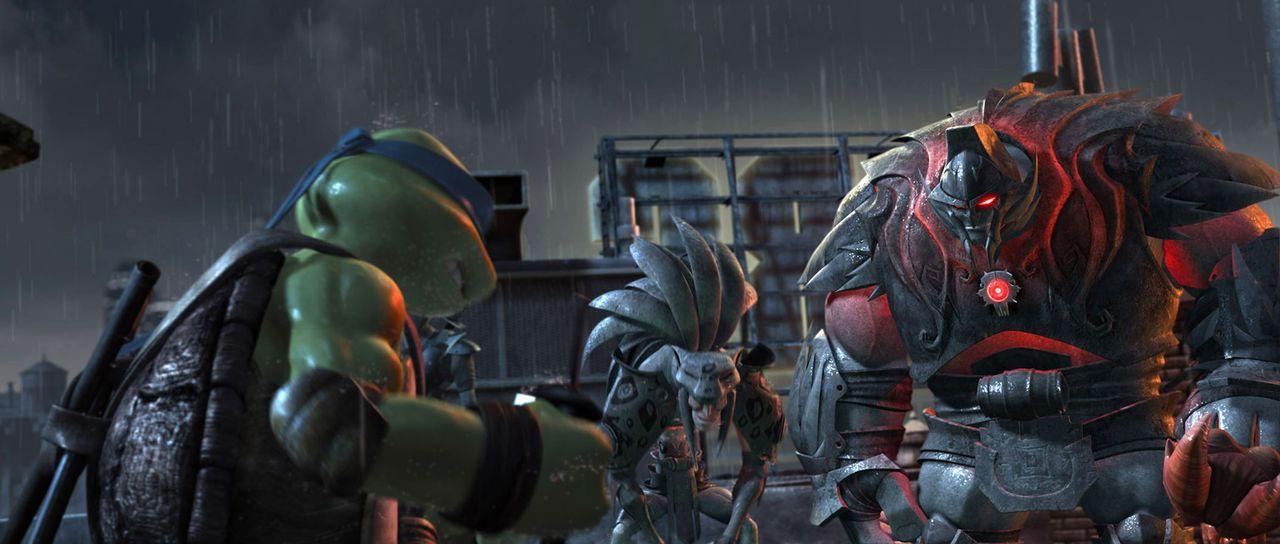 Dunkle Schatten ziehen durch New York, und monströse Kreaturen treiben ihr Unwesen. Können die Ninja-Turtles und ihre Freunde sie jetzt noch aufhalt... - Bildquelle: TOBIS Filmkunst GmbH