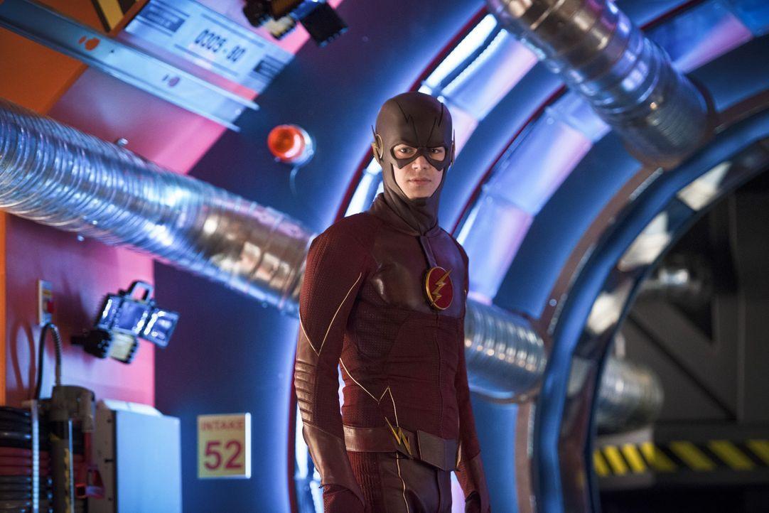 Gelingt es Barry alias The Flash (Grant Gustin), in der Zeit zurück zu reisen und nichts zu verändern? - Bildquelle: Warner Bros. Entertainment, Inc.