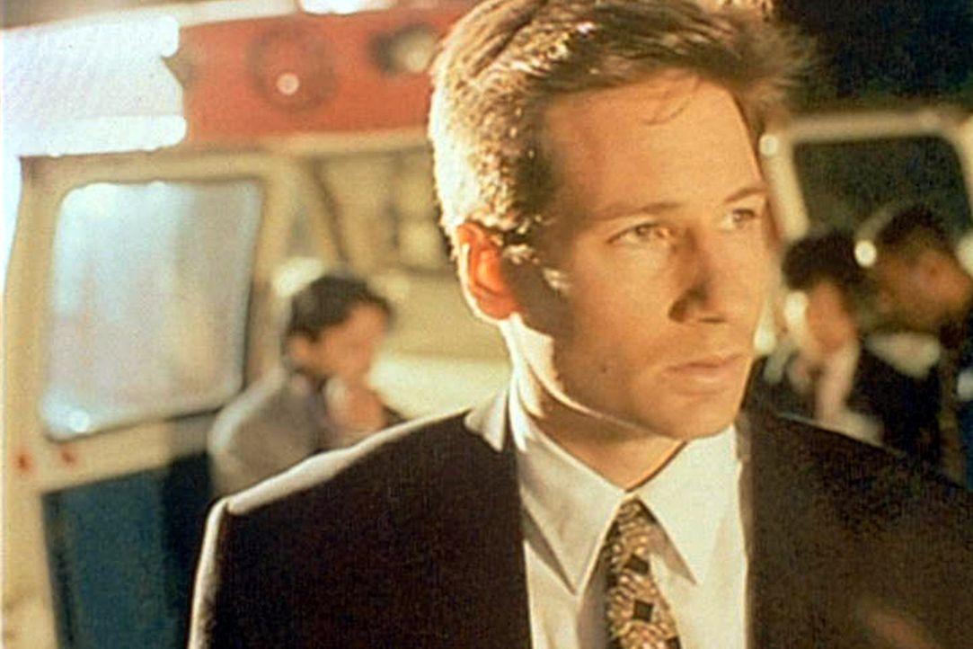 """Ein Kanalarbeiter aus Newark berichtet Mulder (David Duchovny), dass er in einer Abwasserröhre von """"etwas"""" angegriffen und gebissen worden sei. - Bildquelle: TM +   2000 Twentieth Century Fox Film Corporation. All Rights Reserved."""