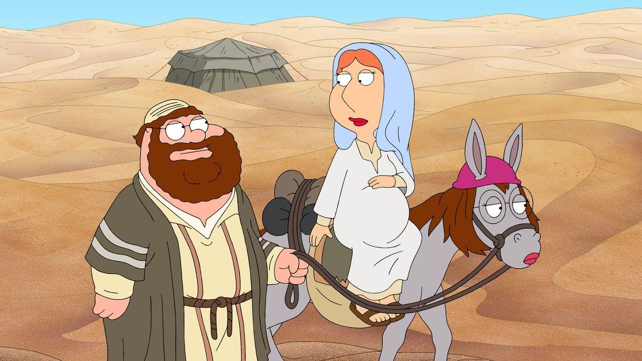 Peter erzählt seine ganz eigene Weihnachtsgeschichte mit ihm als Josef (l.) und Lois als Maria (r.) ... - Bildquelle: 2013 Twentieth Century Fox Film Corporation. All rights reserved.