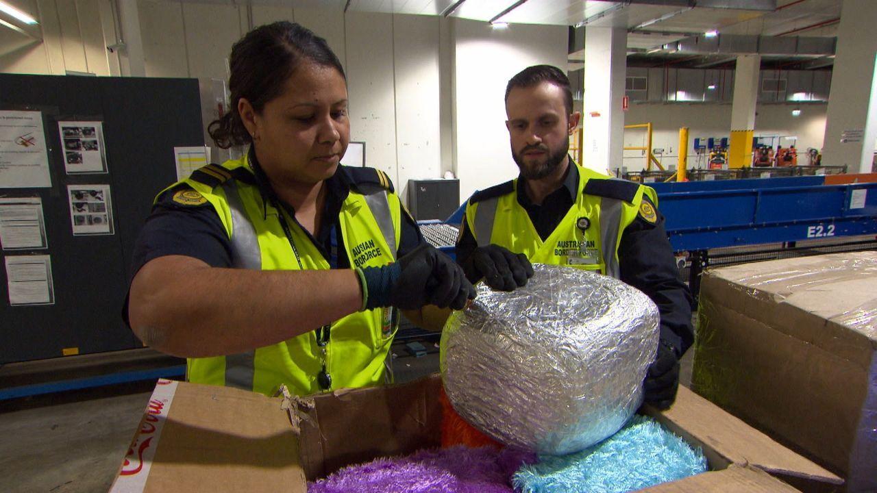 Im Postzentrum am Flughafen Perth herrscht reger Betrieb: Heute muss Vierbei... - Bildquelle: 2019 Seven Network (Operations) Limited