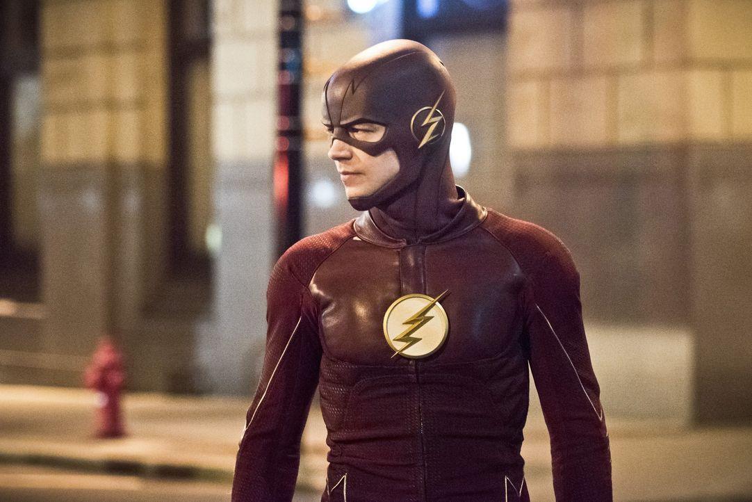 Gelingt es Barry alias The Flash (Grant Gustin) und seinem Team wirklich, die Stadt vor den ganzen bösen Metawesen von der Welt 2 zu beschützen oder... - Bildquelle: Warner Bros. Entertainment, Inc.