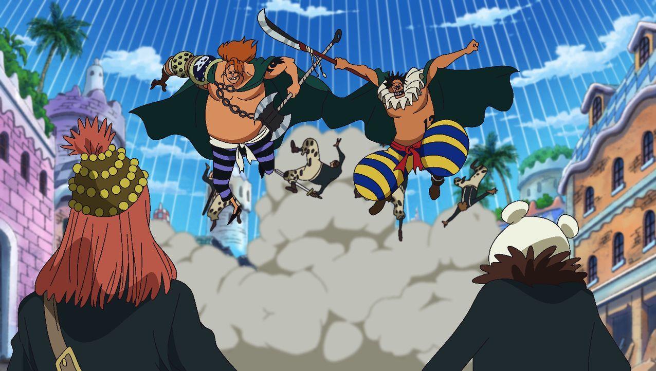 Die ehemaligen Gladiatoren verbünden sich und ziehen gemeinsam gegen Pica in... - Bildquelle: Eiichiro Oda/Shueisha, Toei Animation