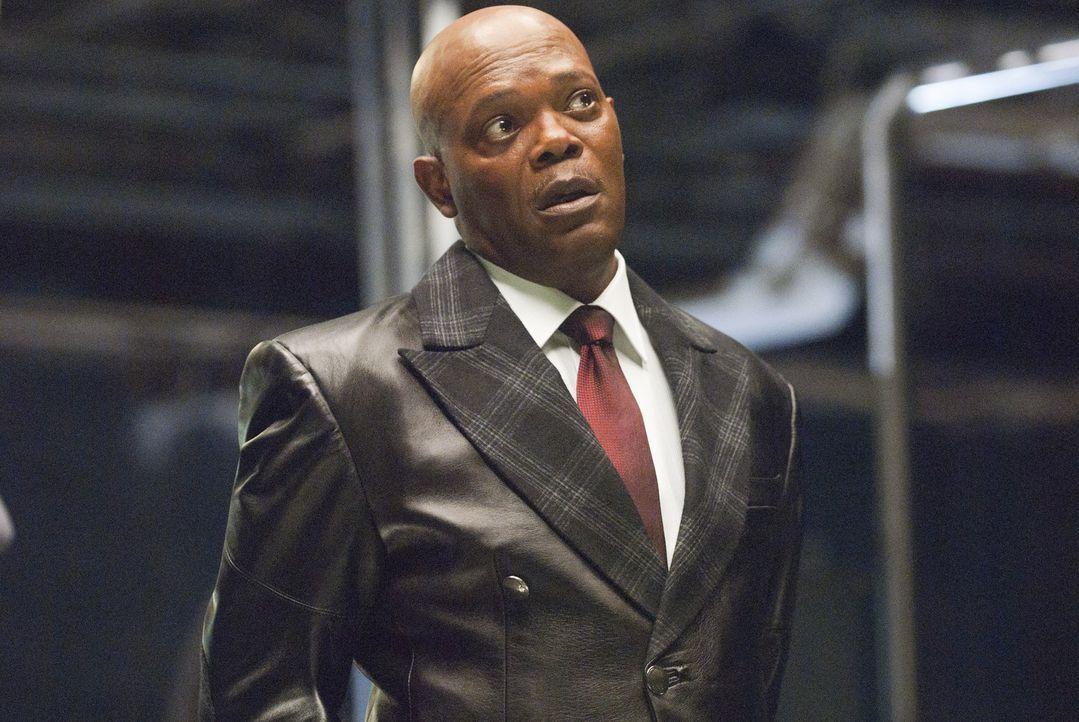 Der sadistische Geschäftsmann Logan (Samuel L. Jackson) lässt Gladiatoren in unmenschlichen Kämpfen gegeneinander antreten. Die brutalen Auseinander... - Bildquelle: Sony Pictures Television Inc. All Rights Reserved.