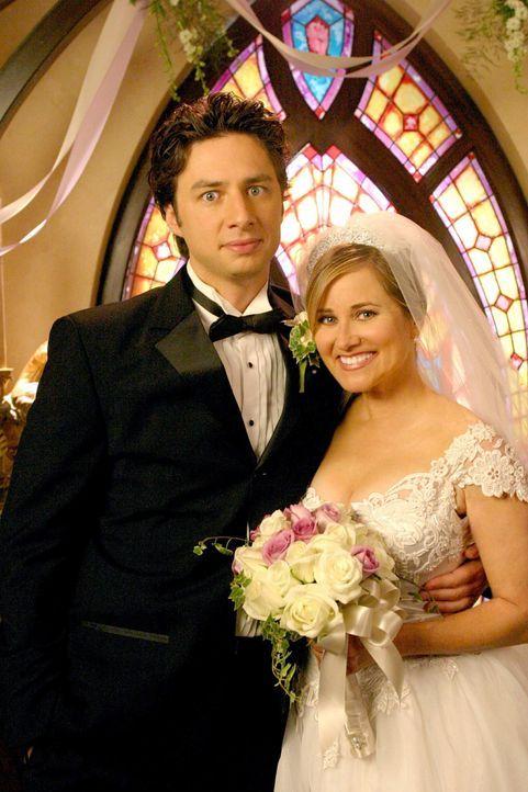 J.D. (Zach Braff, l.) träumt von seiner Hochzeit ... - Bildquelle: Touchstone Television