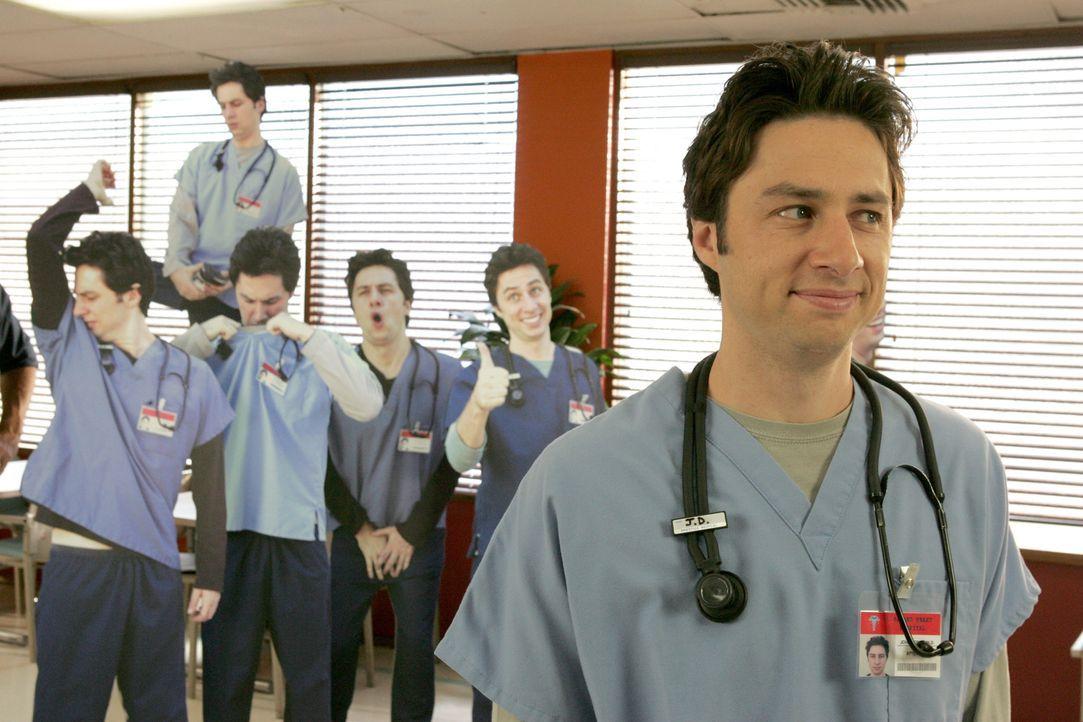 J.D. (Zach Braff) ist mittlerweile zum Facharzt aufgestiegen und versucht sich nun Respekt zu verschaffen ... - Bildquelle: Touchstone Television
