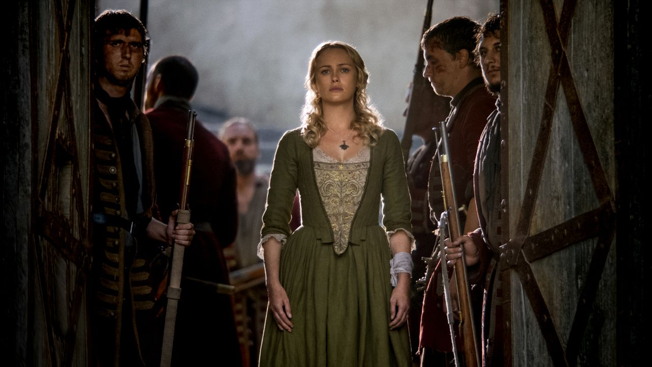 Eleanor (Hannah New) versucht, Max zu helfen, indem sie Silver und Flint ein Angebot macht: die Freilassung von 20 gefangenen Piraten gegen die Ausl... - Bildquelle: 2017 Starz Entertainment, LLC
