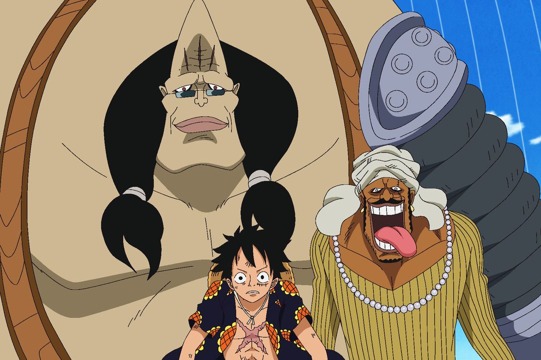(v.l.n.r.) Abdullah; Ruffy; Jeet - Bildquelle: Eiichiro Oda/Shueisha, Toei Animation