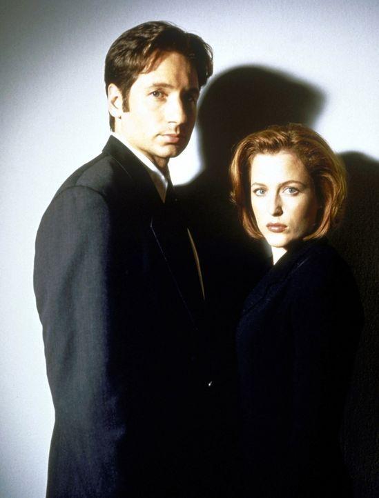 (7. Staffel) - Während die nüchterne Wissenschaftlerin Scully (Gillian Anderson, r.) übernatürlichen Vorgängen mit viel Skepsis begegnet, ist sich M... - Bildquelle: TM +   2000 Twentieth Century Fox Film Corporation. All Rights Reserved.