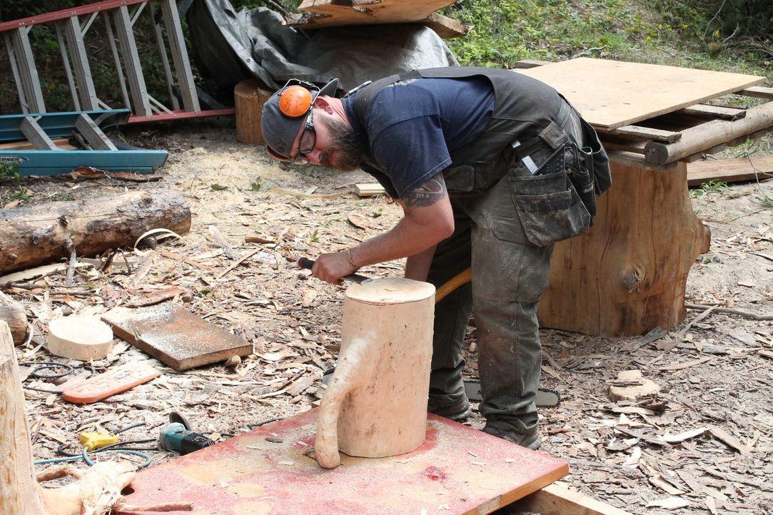 Für die kleine Familie legt sich Ka-V voll ins Zeugs und gibt sein Bestes, um das perfekte Baumhaus zu bauen. Wird ihnen ihr neues Zuhause gefallen? - Bildquelle: 2016,DIY Network/Scripps Networks, LLC. All Rights Reserved