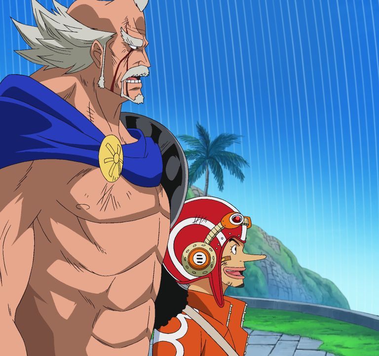 König Riku (l.); Lysop (r.) - Bildquelle: Eiichiro Oda/Shueisha, Toei Animation