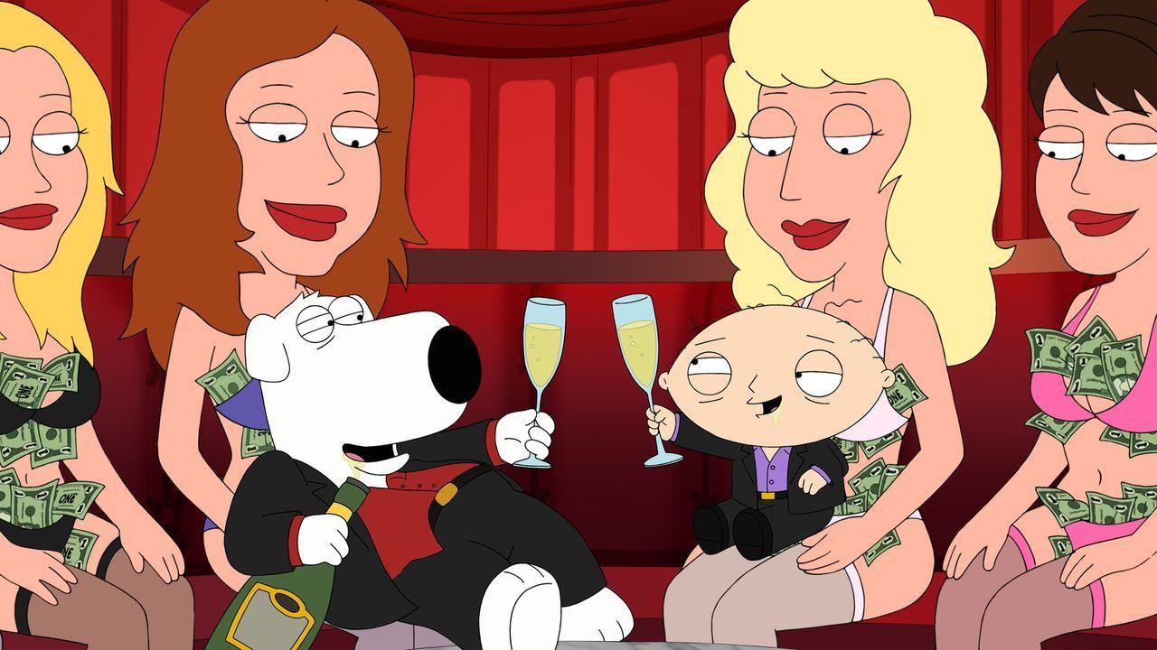Genießen ihre Zeit in Las Vegas: Brian (l.) und Stewie (r.) ... - Bildquelle: 2013 Twentieth Century Fox Film Corporation. All rights reserved.