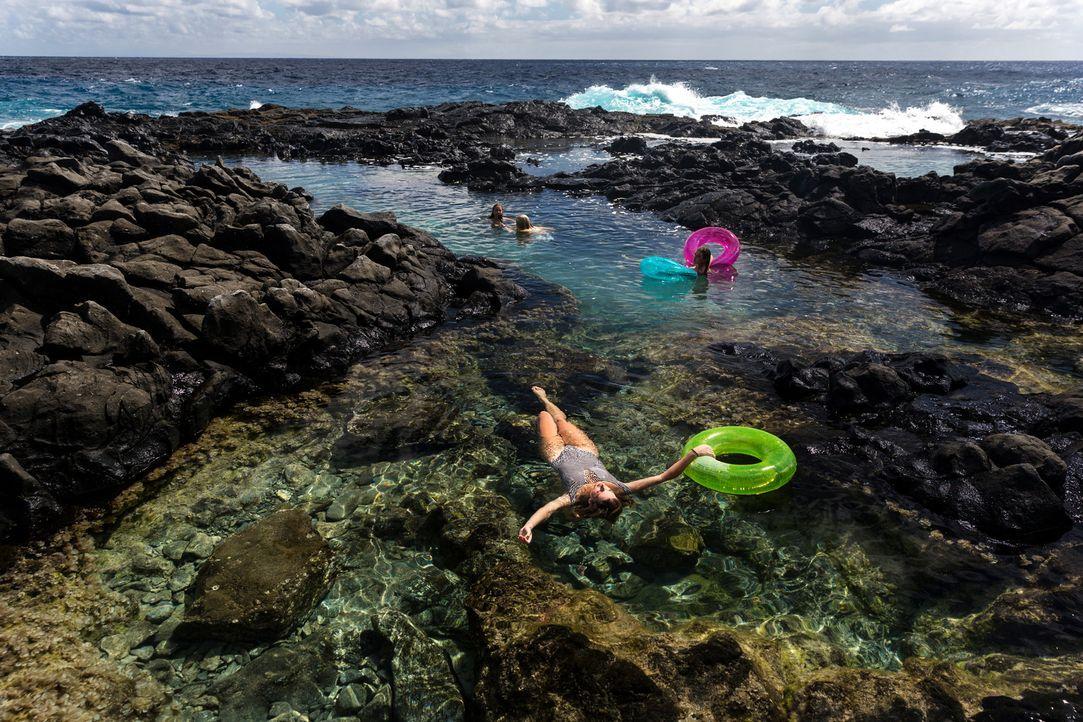 """Baden in traumhafter Kulisse und türkisblauem Wasser: Möglich ist das in den """"Makapu'u Tide Pools"""" auf Hawaii ... - Bildquelle: 2017,The Travel Channel, L.L.C. All Rights Reserved"""