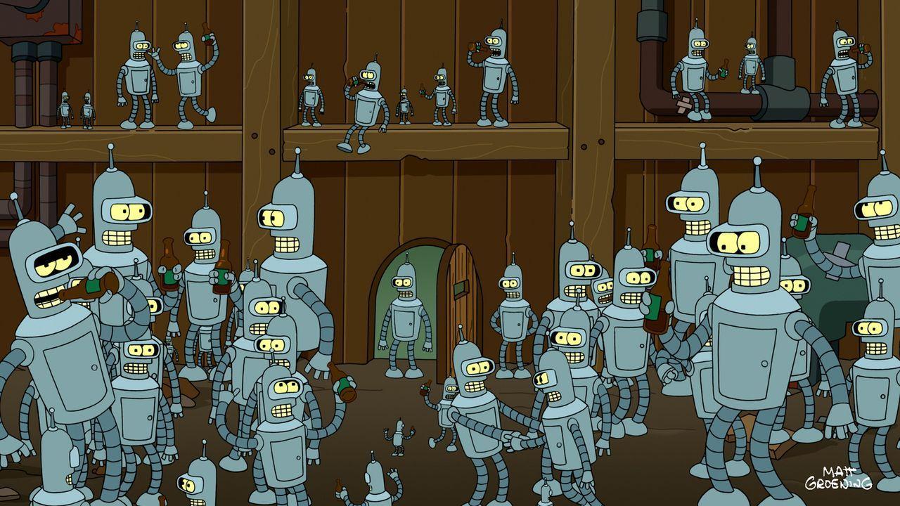 Der Professor hat eine Duplikationsmaschine entwickelt und bald erkennt Bender, dass er sich selbst reproduzieren kann ... - Bildquelle: 2011 Twentieth Century Fox Film Corporation. All rights reserved.