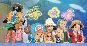 Robin, Lysop, Chopper und Sanji