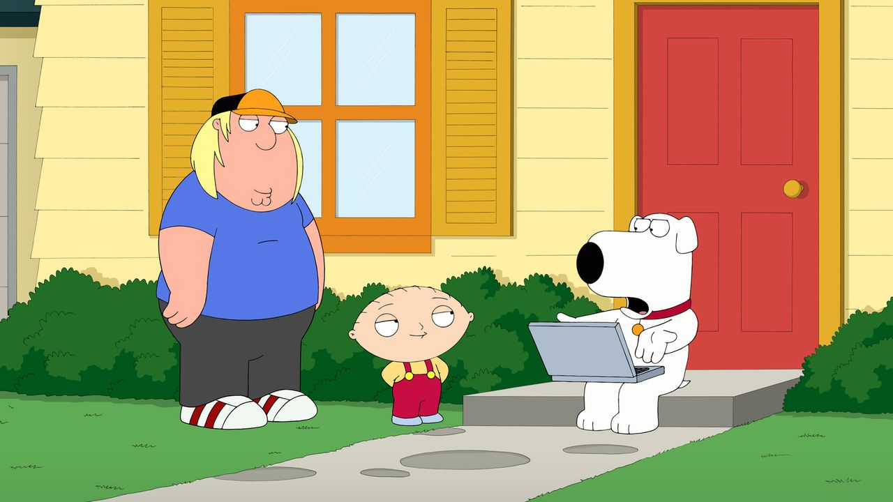 Als sich Stewie (M.) bei Brian (r.) mit Herpes ansteckt, beschließt Stewie, sich an ihm zu rächen. Mit Hilfe von Chris (l.) ... - Bildquelle: 2014 Twentieth Century Fox Film Corporation. All rights reserved.