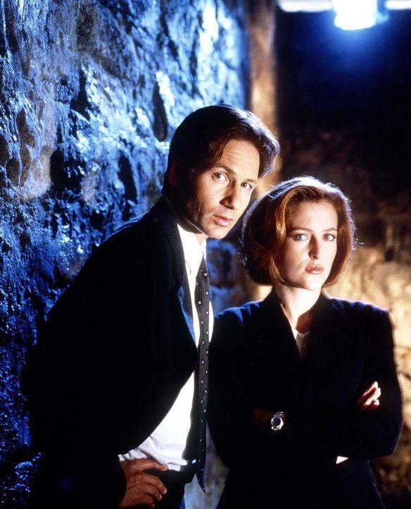 (7. Staffel) -  Während die FBI-Agentin und Wissenschaftlerin Scully (Gillian Anderson, r.) übernatürlichen Vorgängen mit viel Skepsis begegnet, ist... - Bildquelle: TM +   2000 Twentieth Century Fox Film Corporation. All Rights Reserved.