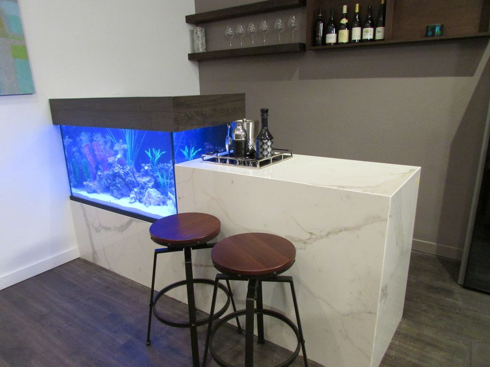 Partyraum mit Aquarium - Bildquelle: 2013,DIY Network/Scripps Networks, LLC. All Rights Reserved