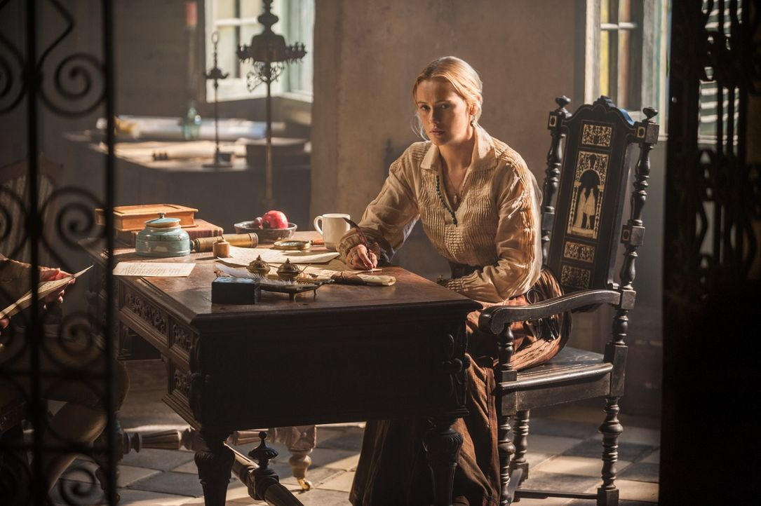 Nichts bleibt verborgen: Eleanor (Hannah New) kommt hinter Max` Geheimnis ... - Bildquelle: 2015 Starz Entertainment LLC, All rights reserved.