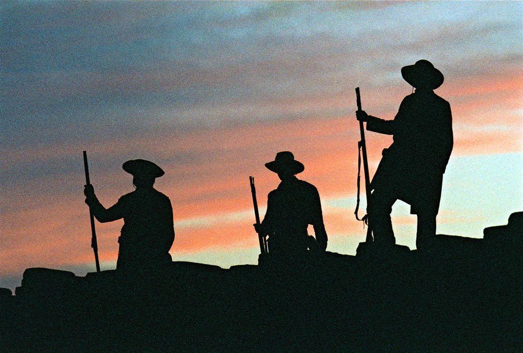 Das ehemals zu Mexiko gehörende Missionsdorf Alamo, nun als notdürftige Festung der Amerikaner ausgebaut, wird unter Führung von General Santa Anna... - Bildquelle: Disney - ABC International Television