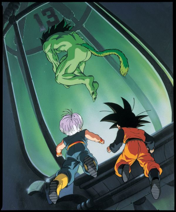 (v.l.n.r.) Trunks; Bio-Broly; Goten - Bildquelle: Bird Studio/Shueisha, Toei Animation Film   1994 Bird Studio/Shueisha, Toei, Toei Animation