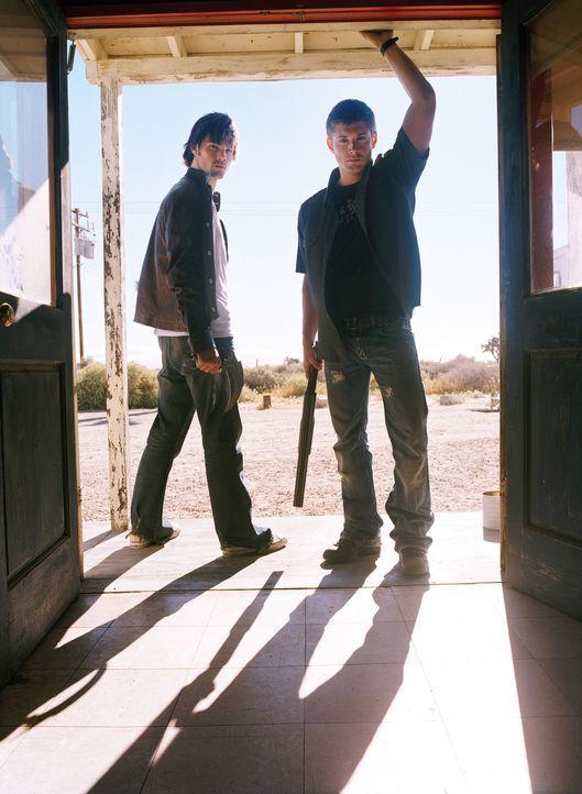 (1. Staffel) - Nach dem spurlosen Verschwinden ihres Vaters tun sich Sam (Jared Padalecki, l.) und Dean (Jensen Ackles, r.)  zusammen, um ihn zu suc... - Bildquelle: Warner Bros. Television