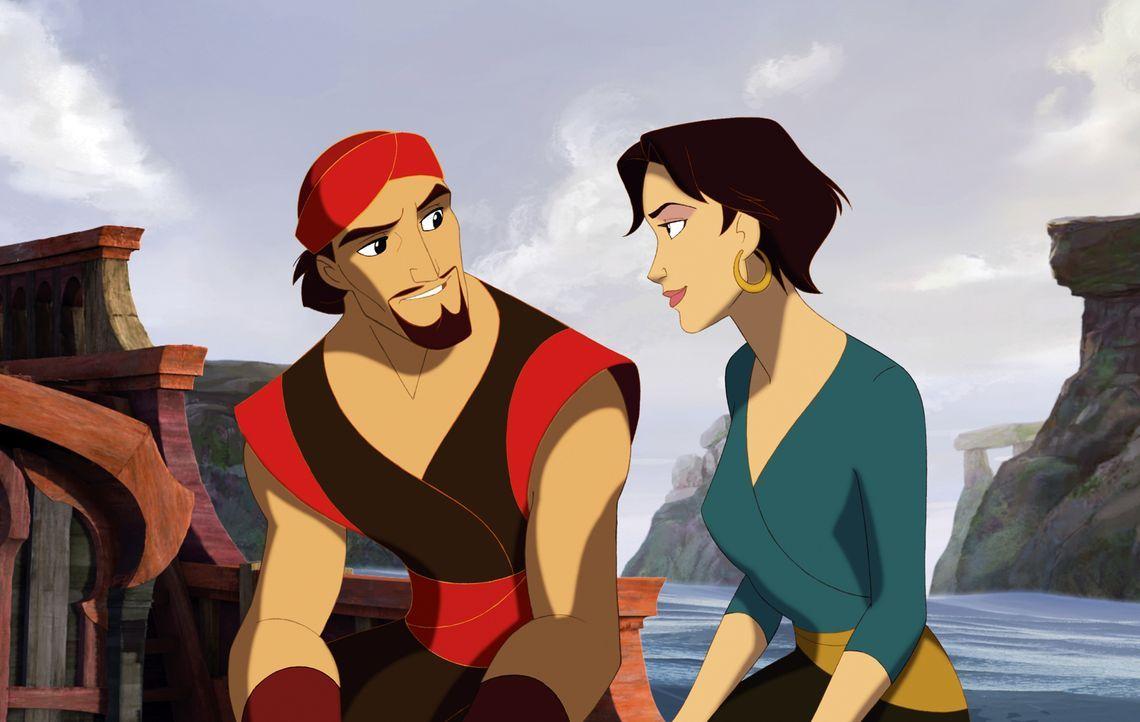 Sinbad ist verzweifelt: Seine Mannschaft entscheidet sich dafür, künftig die Befehle von Marina entgegenzunehmen. Werden sie so das Leben von Proteu... - Bildquelle: DreamWorks SKG