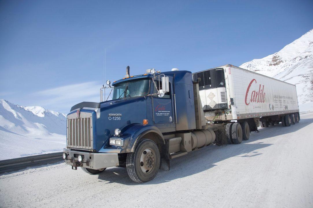 Die Ice Road Truckers üben einen der gefährlichsten Jobs der Welt aus: Im No... - Bildquelle: 2020 A&E Networks, LLC.