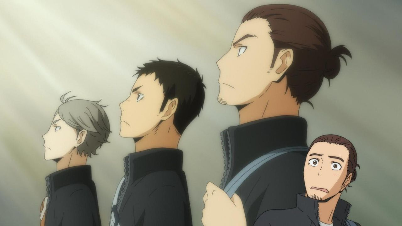 "Koshi Sugawara (l.); Daichi Sawamura (M.); Asahi Azumane (r.) - Bildquelle: H.Furudate / Shueisha,""Haikyu!!?Project, MBS"