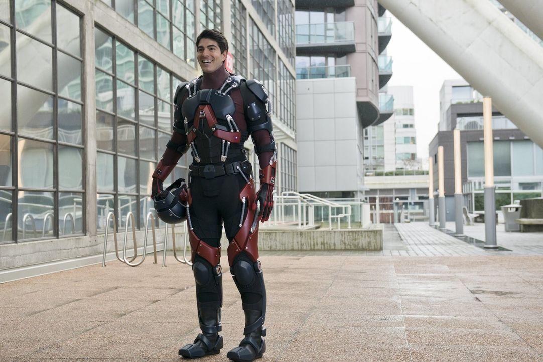Ray Palmer alias The Atom (Brandon Routh) kommt mit Felicity nach Central City, um das S.T.A.R. Lab-Team um Hilfe zu bitten ... - Bildquelle: Warner Brothers.