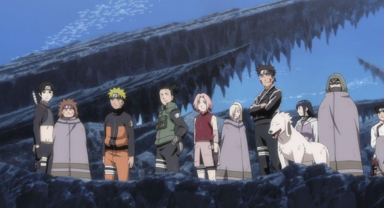 Naruto (3.v.l.) und seine Freunde müssen handeln, als Shinobi Hiruko die Weltherrschaft an sich reißen möchte und dafür immer mehr Shinobi mit mächt... - Bildquelle: 2002 MASASHI KISHIMOTO /2007 Shippuden   NMP 2009