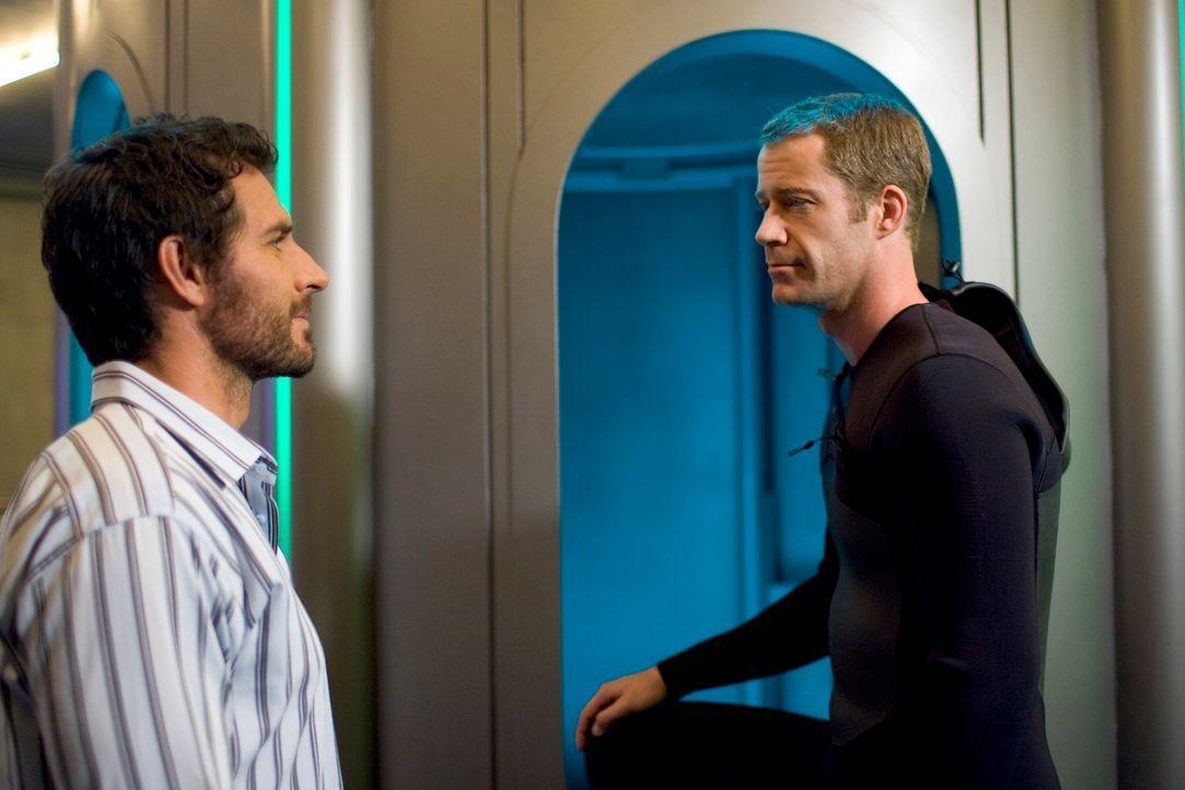 Werden Nathan (Ed Quinn, l.) und Jack (Colin Ferguson, r.) das Geheimnis der mysteriösen gemeinsamen Träume lösen können? - Bildquelle: Universal Television