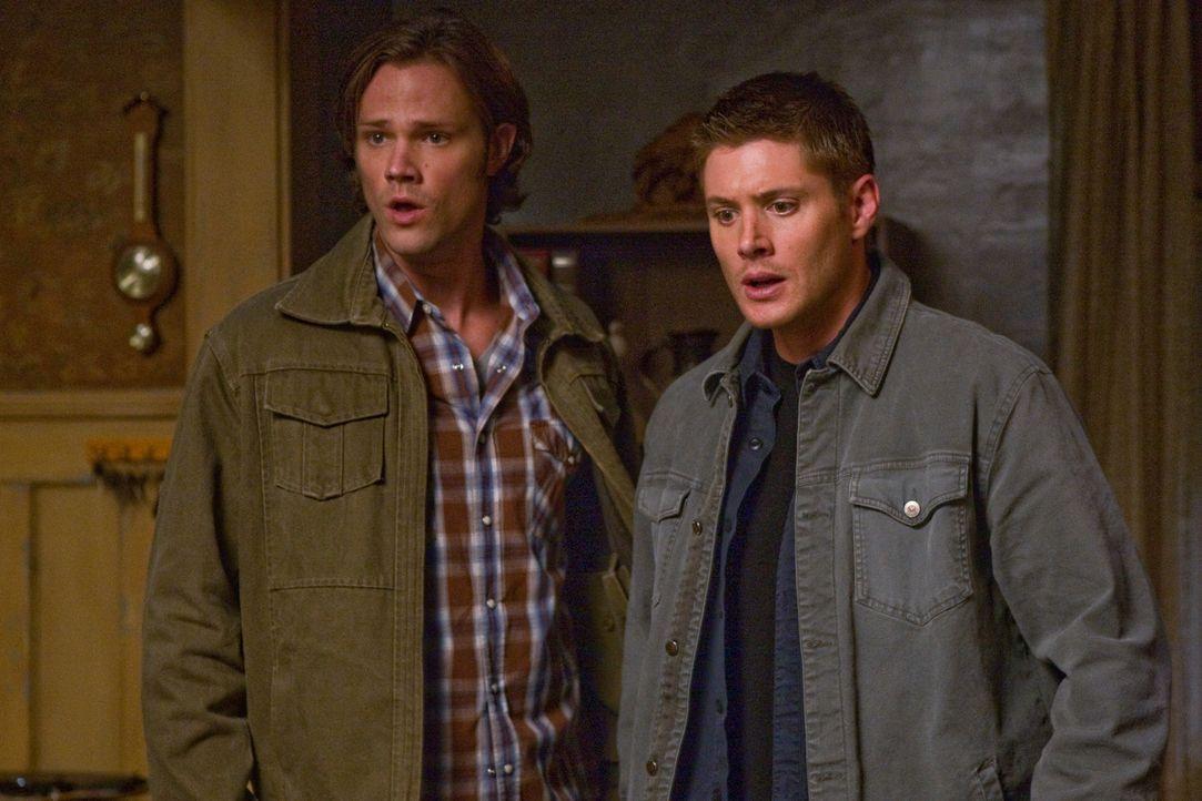 Untersuchen Berichte von Märchengestalten, die plötzlich real werden: Sam (Jared Padalecki, l.) und Dean (Jensen Ackles, r.) ... - Bildquelle: Warner Bros. Television