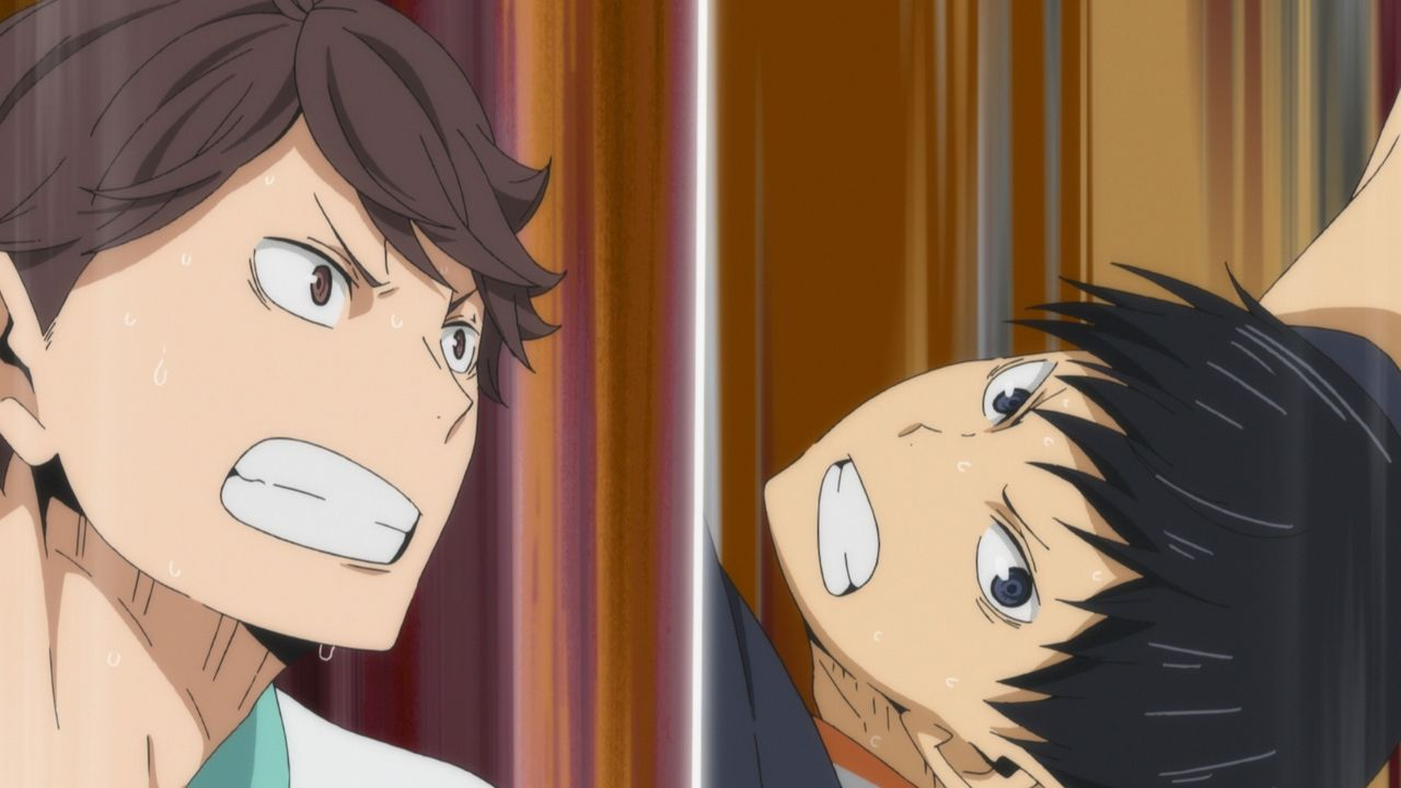 (v.l.n.r.) Toru Oikawa; Tobio Kageyama - Bildquelle: H. Furudate / Shueisha, >HAIKYU!! 2nd Season< Project, MBS  All Rights Reserved.