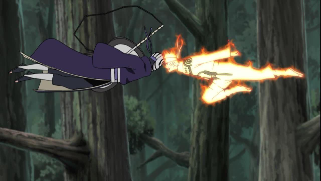 Naruto rammt Tobi