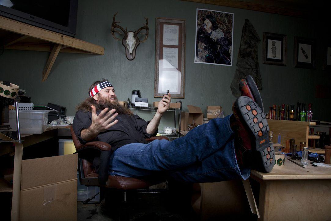 Als eine große Bestellung reinkommt, macht Willie (Willie Robertson) seinen Geschwistern Druck, damit der Liefertermin eingehalten werden kann ... - Bildquelle: Zach Dilgard 2012 A+E Networks